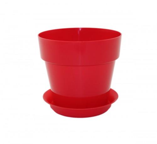 Протея Красная -  горшок с поддоном для фиалок и суккулентов