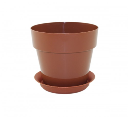 Протея Шоколад -  горшок с поддоном для фиалок и суккулентов