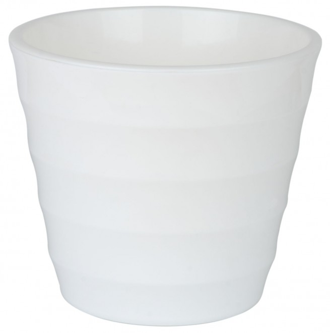 Лаура Белая 1.4 л -  кашпо с вкладкой