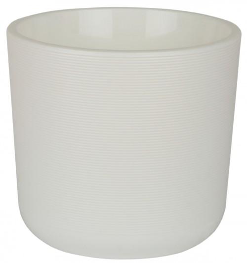 Лион 2 литра Белый горшок с вкладкой
