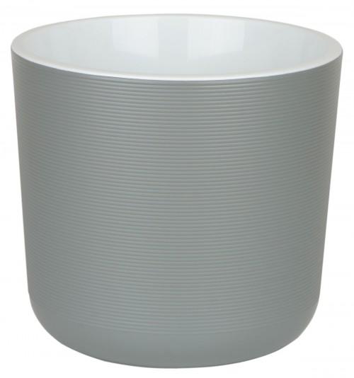 Лион 2 литра Серый-Муссон горшок с вкладкой