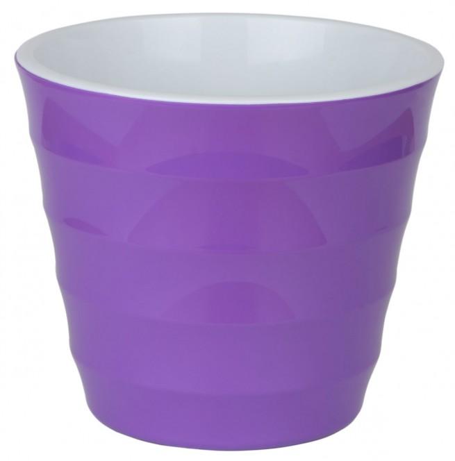 Лаура Фиолетовая 1.4 л -  кашпо с вкладкой