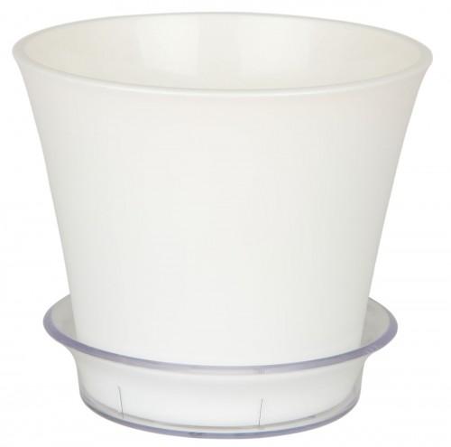 Лотос Белый пластиковый горшок с поддоном