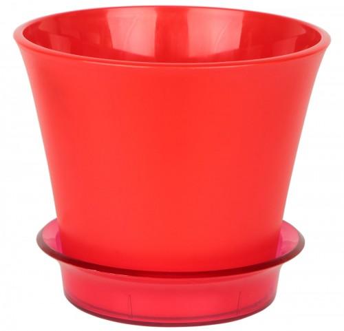 Лотос Красный пластиковый горшок с поддоном