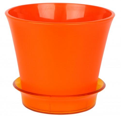 Лотос Оранжевый пластиковый горшок с поддоном