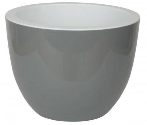 Орион Серый-Муссон 17 -  горшок с вкладкой