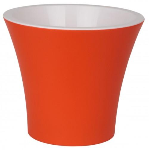 Сити Оранжевый 1.2 л  -  горшок с вкладкой