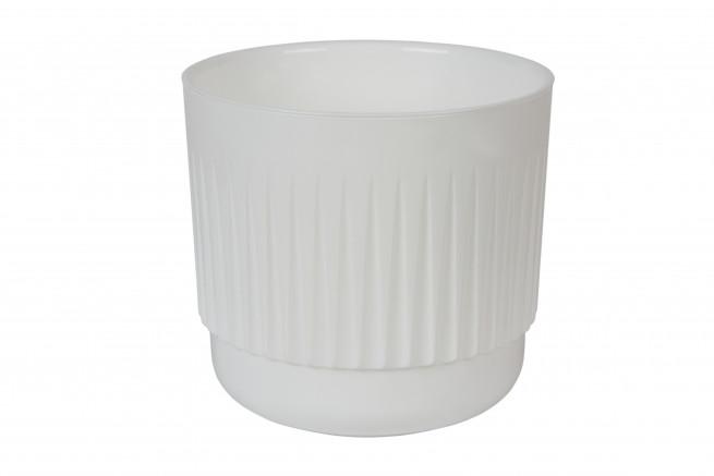 Бета 4 литра Белый горшок с вкладкой